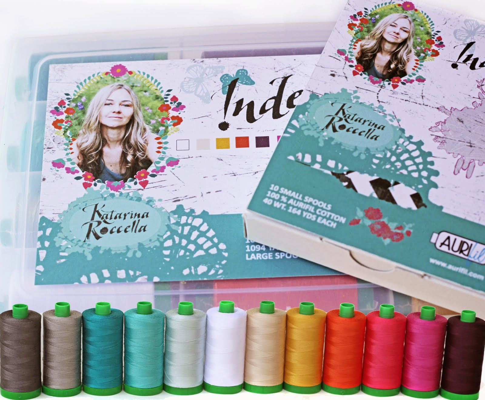 "Aurifil thread collection ""Indelible"""