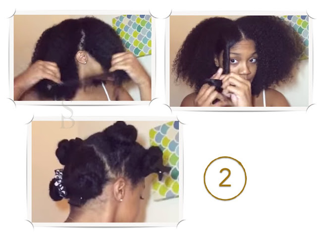 Dividir el cabello en secciones manejables