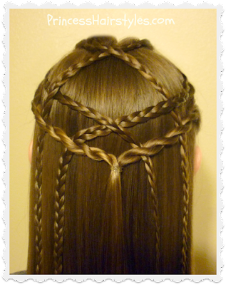Easy hairstyle. Braided lattice pull-through video tutorial