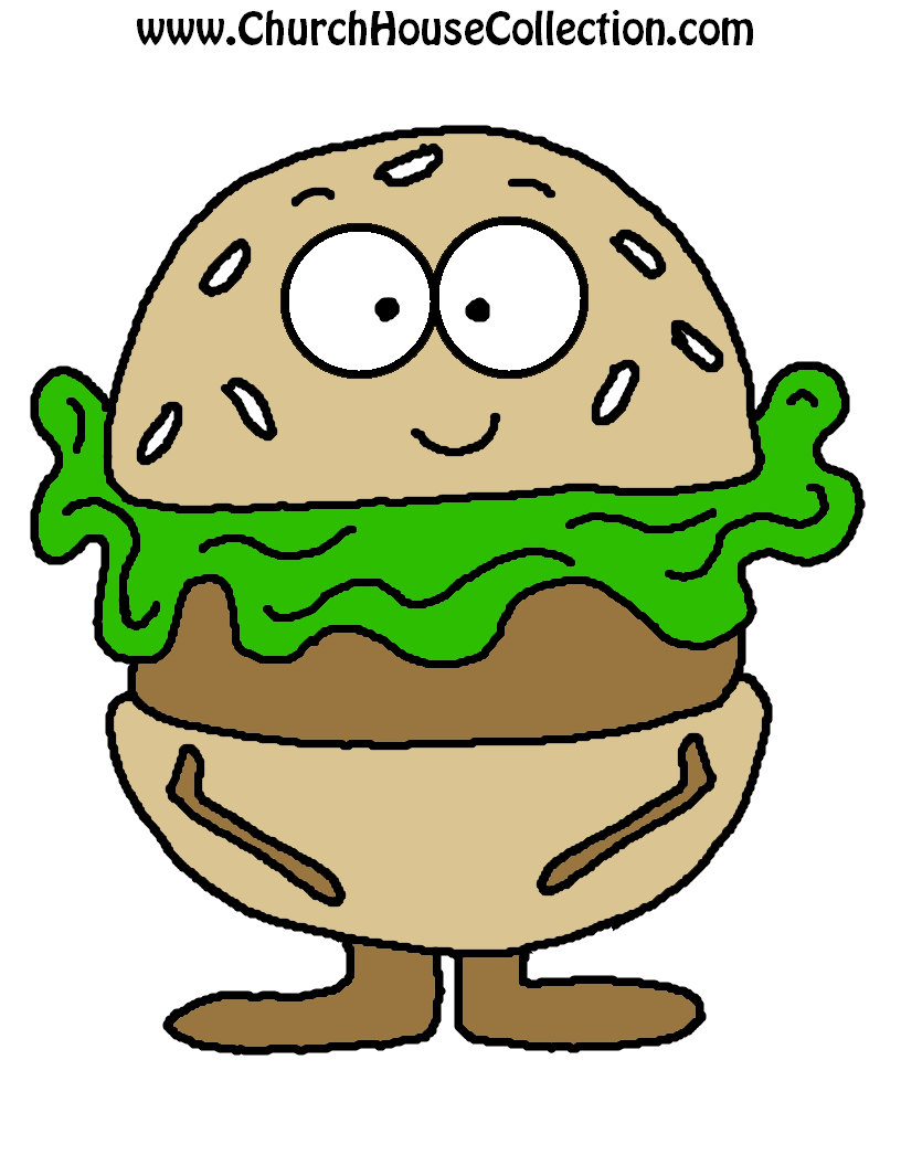 Church House Collection Blog: Hamburger Printable Cutout Template ...