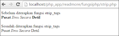 remove certain tag html using strip_tags in php