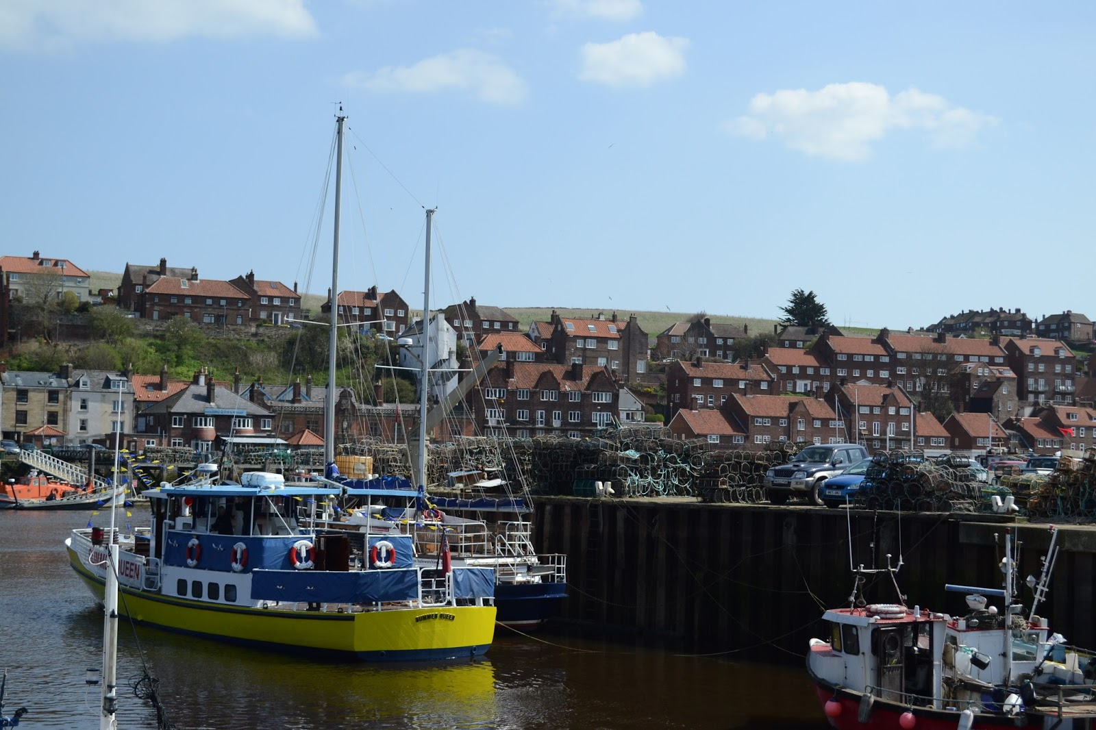 Whitby, fishing boats, scenery, Yorkshire seaside,