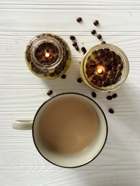 DIY coffee scented candles