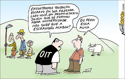 Resultado de imagem para trabalho escravo no brasil charge