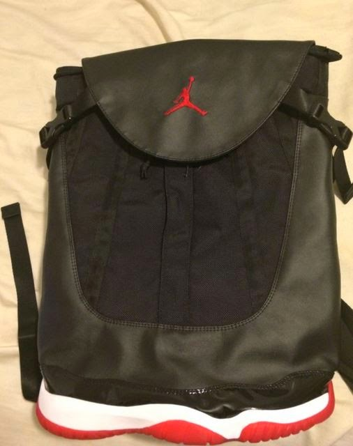 """f7773ce9399 Here is a look at this crazy looking Unreleased Air Jordan 11 """"Bred"""" Sneaker  Sample Backpack spotted available HERE on ebay, this never released and I  doubt ..."""