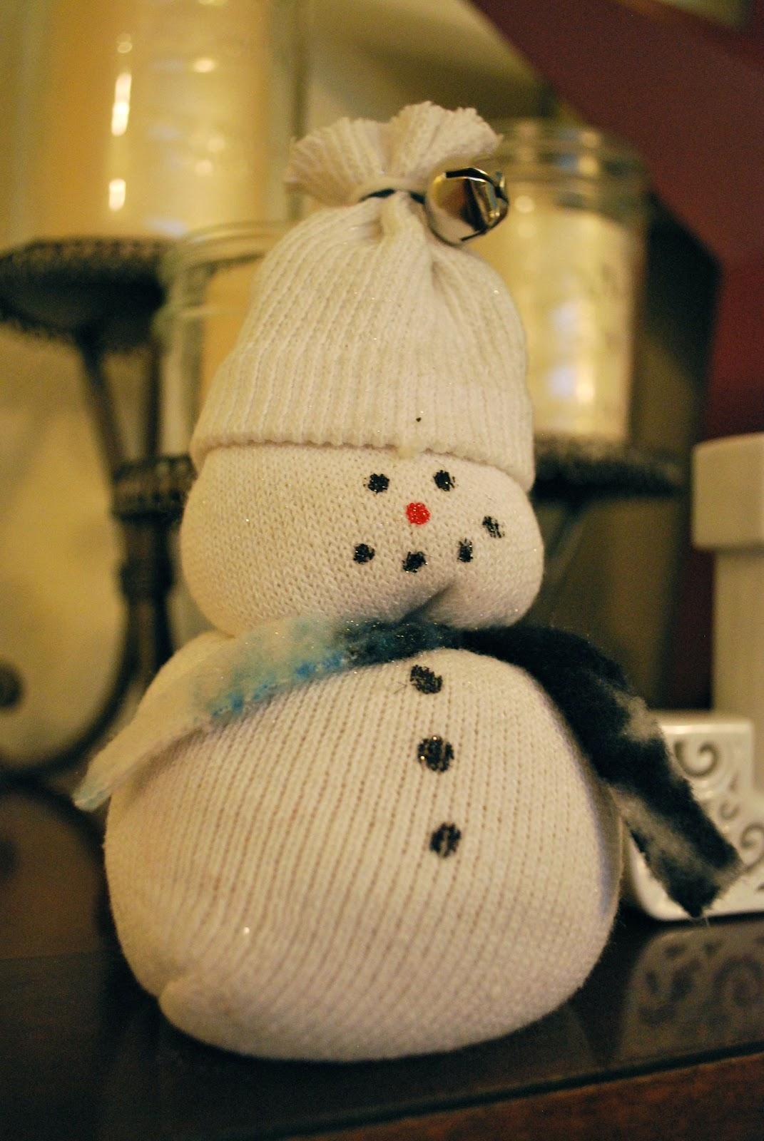 My Sisters Tricks Sock Snowman