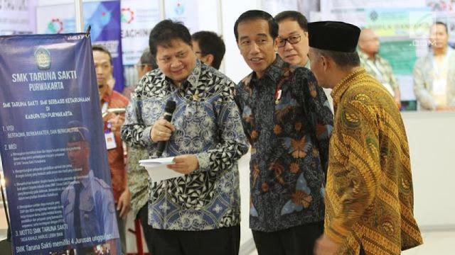 Airlangga Dijagokan Jadi Ketum Golkar, Apa Kata Jokowi?