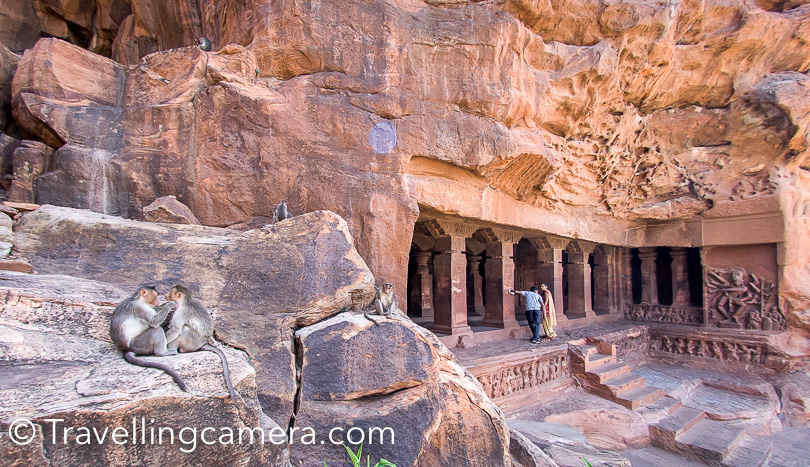 Badami is in Bagalkot District of Karnataka State.  Badamai Cave Temples are most popular places to explore in this region. They are special because all these 4 temples are carved out of huge red Stone Mountain in Badami. Out of these 4 cave temples in Badami, 3 are dedicated to Shiva and Vishnu, while the 4th one is dedicated to Jainism. Each cave temple of Badami has brilliant carvings and intricate art-forms on walls, pillars & ceilings  It's hard to imagine how people would have carved temples & god forms to depict stories.   Wondering if there are artists in India who can create such things today and if government or other organisations are supporting these initiatives. While sitting at home and seeing these things on TV may not create much excitement, but when you are there lot of such thoughts cross your mind and you feel like there must be some ways in modern times to leverage such brilliant skills of artists/specialists.
