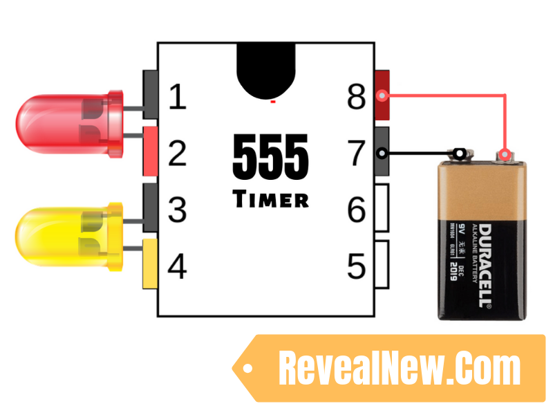 LED Chaser Circuit with 555 timer - RevealNew on