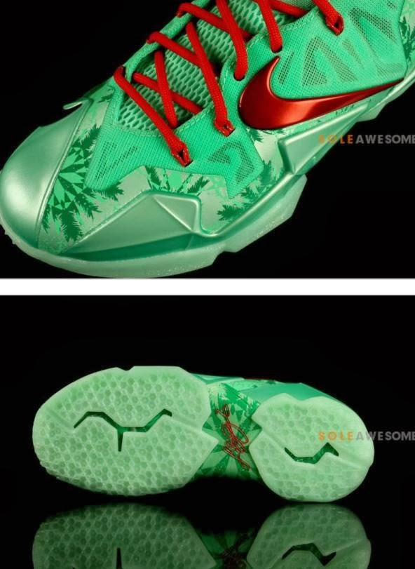 """huge selection of deee4 d8e88 The Nike LeBron 11 XI """"Christmas"""" Sneaker will release on 12 26 for 200  bucks, peep more detailed images after the jump."""