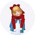 child_cat hood scarf_unisex_고양이 귀 달린 후드 목도리_남녀 어린이 목도리