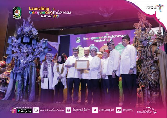 Banyuwangi dinobatkan sebagai kota penyelenggara festival terbaik di Indonesia.