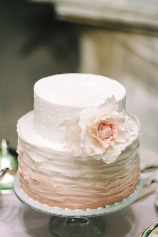 tarta nupcial en color rosa chicanddeco