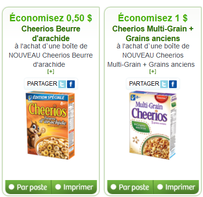 Cheerios coupons canada