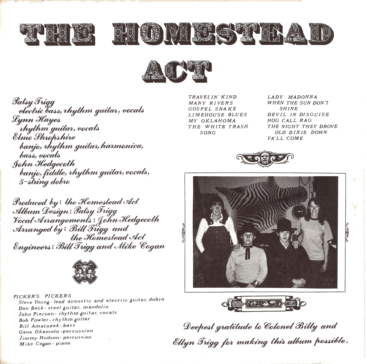 Ghostcapital The Homestead Act Gospel Snake 1972 Kim