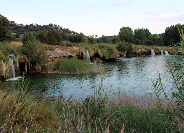 Salto de agua de las lagunas de Ruidera. Desnivel entre la laguna Redondilla y la laguna Lengua