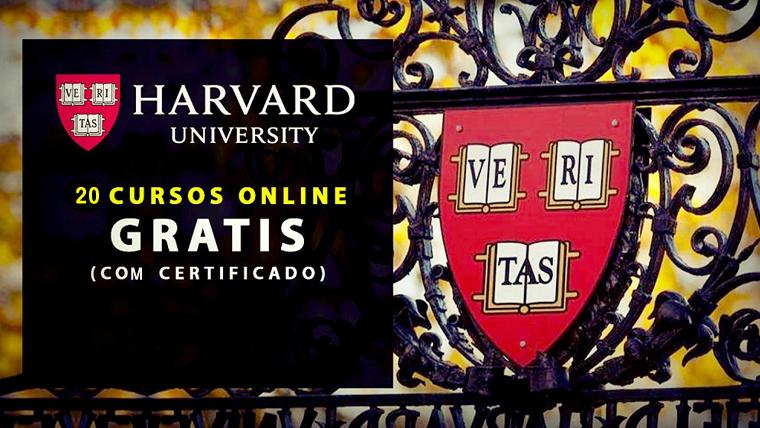 Harvard oferece cursos online e gratuitos na área de Medicina, Matemática....