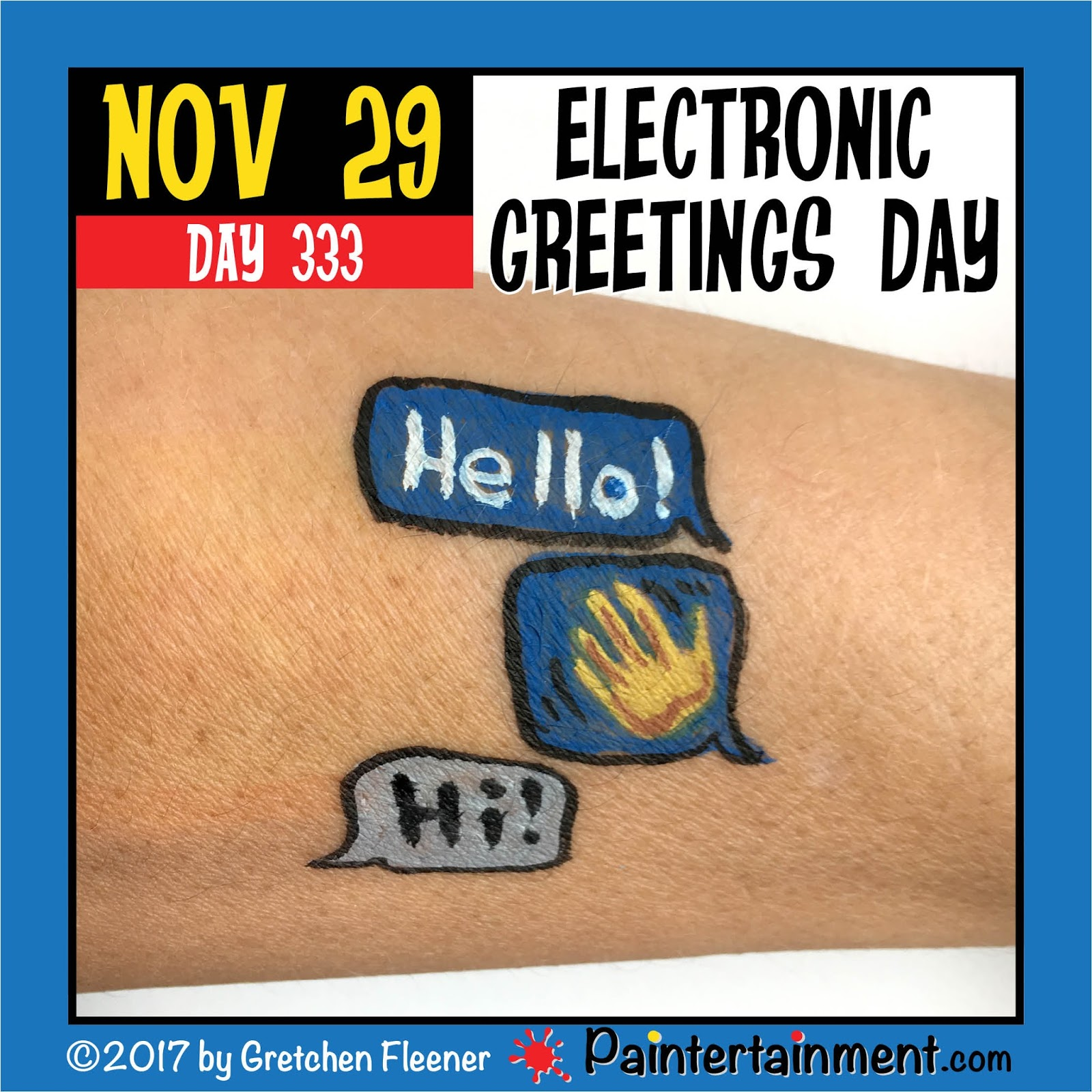 Paintertainment Celebrate Day 333 Electronic Greetings Day