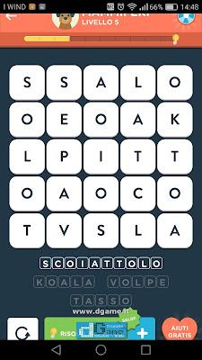 WordBrain 2 soluzioni: Categoria Mammiferi (5X5) Livello 5