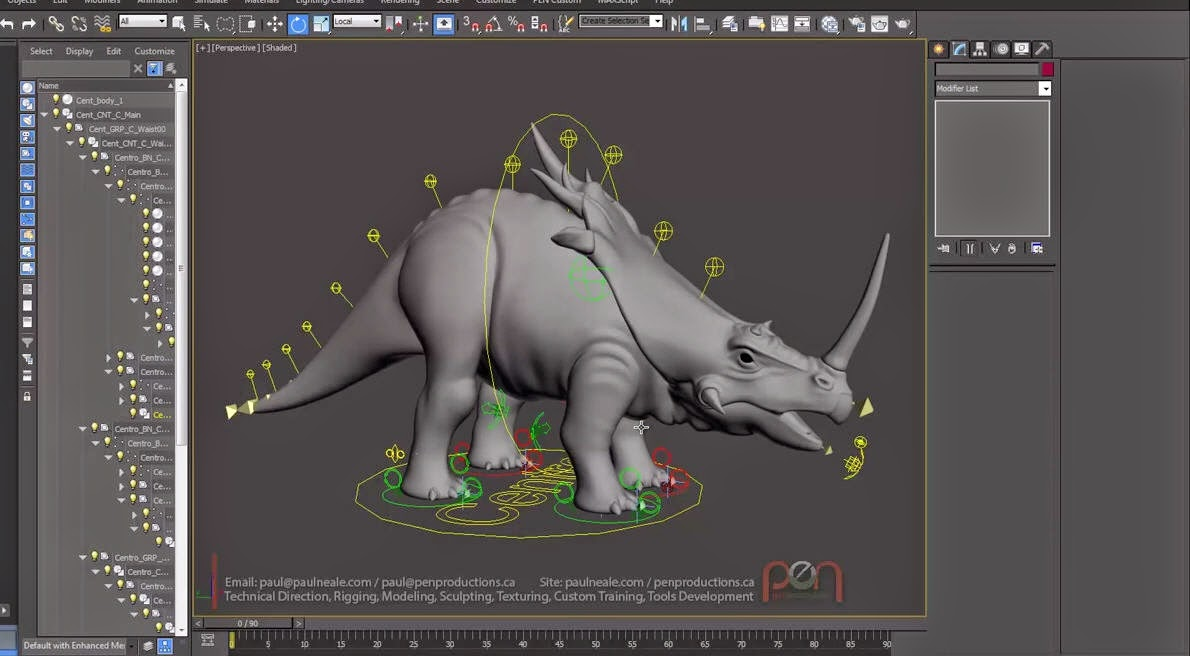 Flex Muscles Rigging in 3ds Max