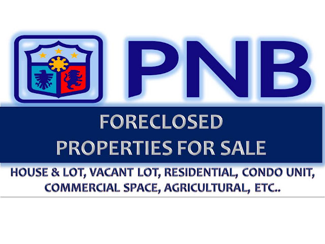 Here is another list of foreclosed properties you can check this February 2017. This is the latest list from Philippine National Bank (PNB) where you can choose different kinds of prime properties for sale. There's a lot of vacant lot, house and lot, residential area, condominium unit and other properties you might to consider to own or invest.