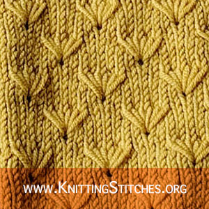 Dandelion Flower Knitting Stitch. Easy Knitting Design For Your Knitting Projects.