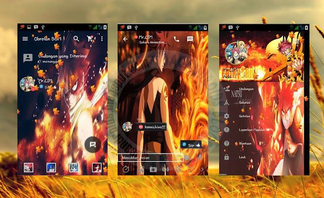 download BBM Mod Thema Fairy Tail Natsu C+ Versi