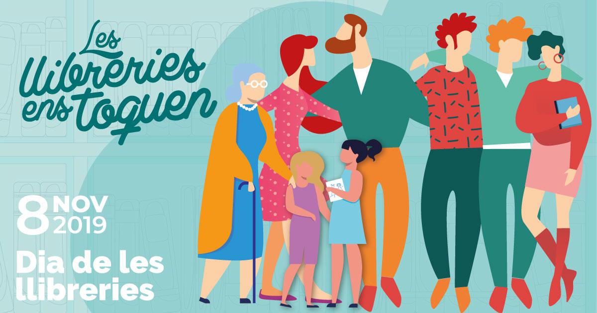 Cartel en catalán del Día de las Librerías