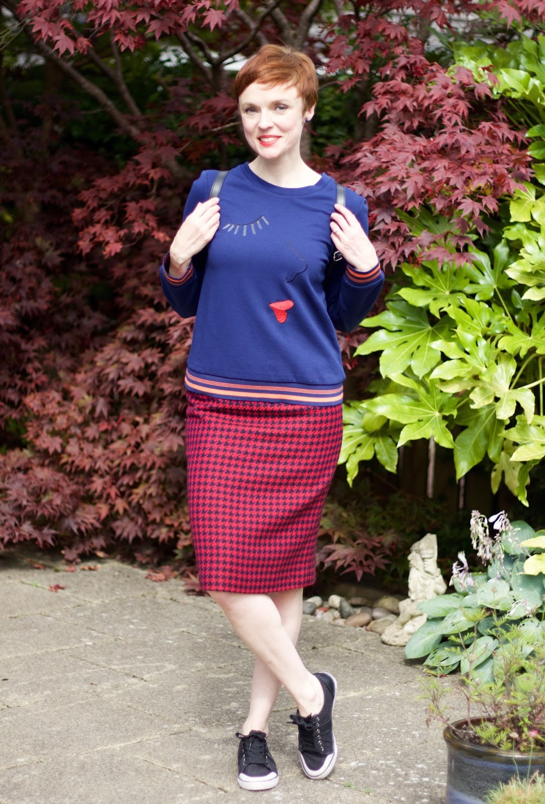 Sweatshirt & Pencil Skirt | Alternative to Jeans | Fake Fabulous