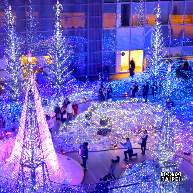 【Caretta Illumination】小小廣場點滿藍色燈海 東京超華麗燈光秀