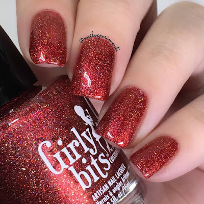 girly bits no fawkes given swatch and review nail experiments