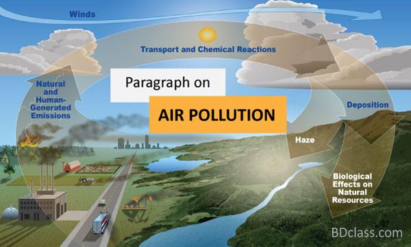 paragraph on air pollution