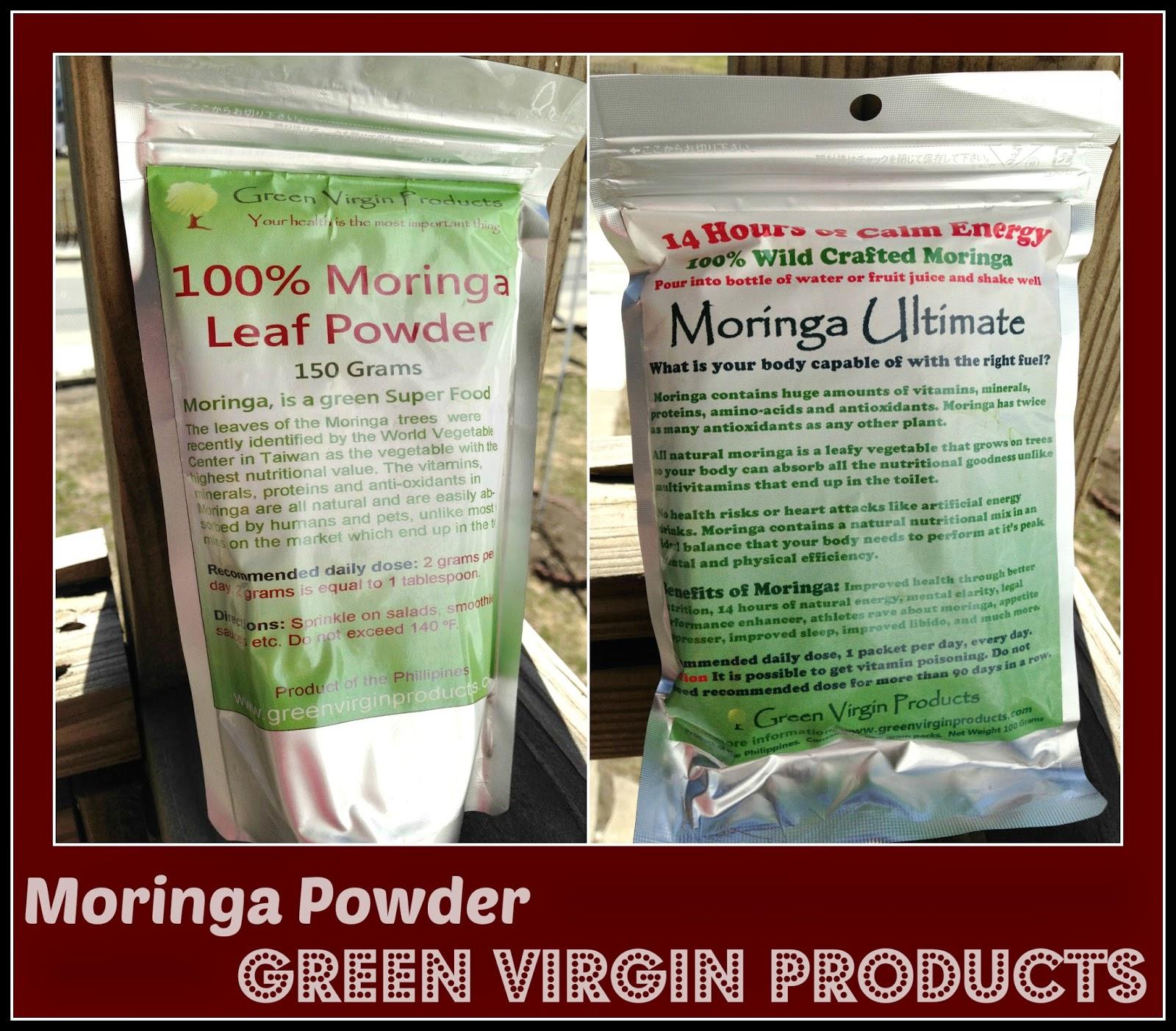 Green Virgin Products - Moringa Powder Review and Giveaway