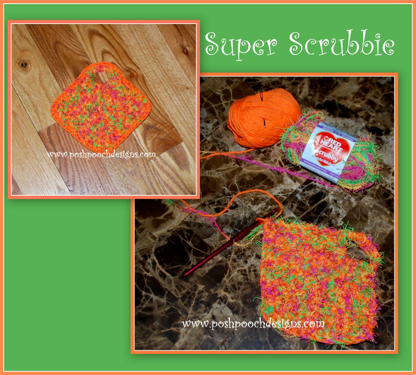 Posh Pooch Designs Dog Clothes Super Scrubbie Crochet Pattern And