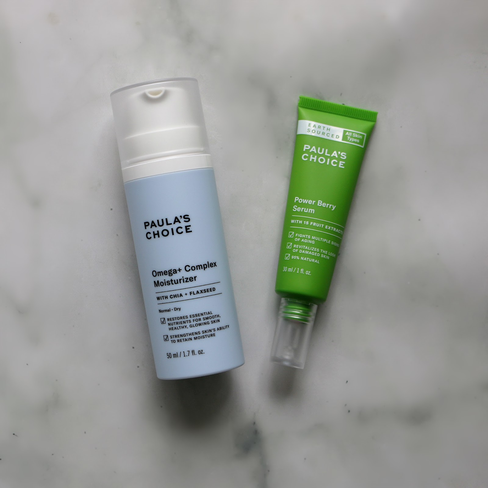 Paula's Choice Omega+ Complex Moisturizer & Earth Sourced Power Berry Serum