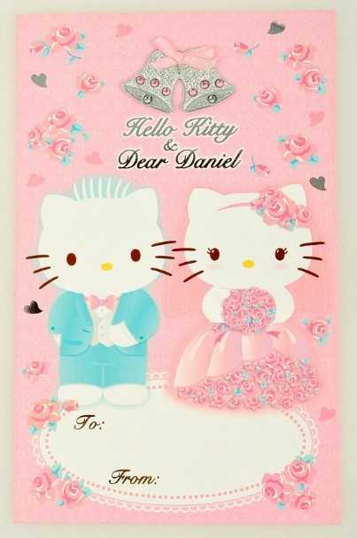 15 Contoh Desain Undangan Bertema Hello Kitty Untuk Pernikahan Dan
