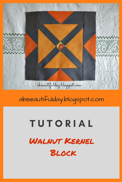 Walnut Kernel Block Tutorial - abeeautifulday.blogspot.com