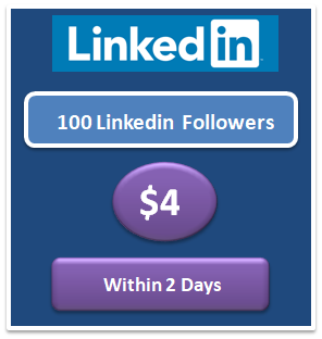 100 buy real Linkedin Followers