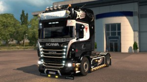 Black & White Scania R skin by RedLion