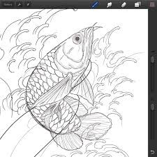 Best Image Of Arowana Fish Colorig Sheet