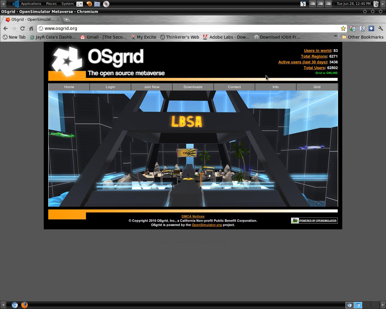 The Virtual World Technologist: Open Sim ~ OSgrid