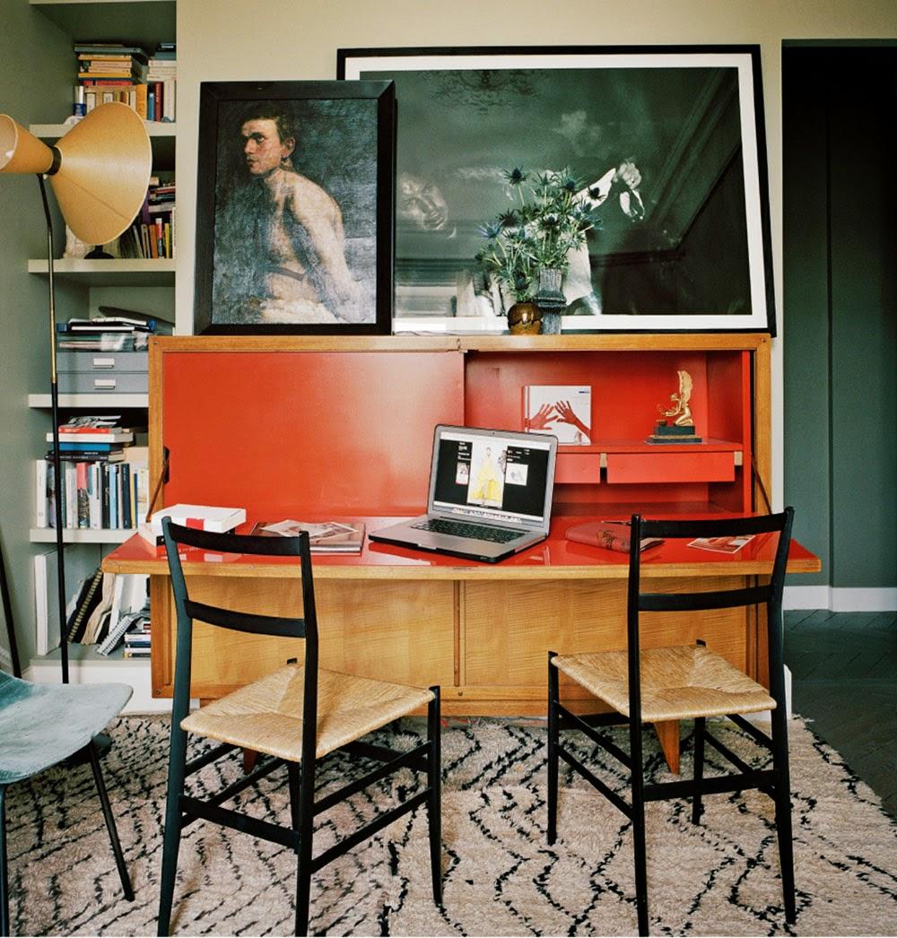 Giambattista Vali Apartment in Paris home office