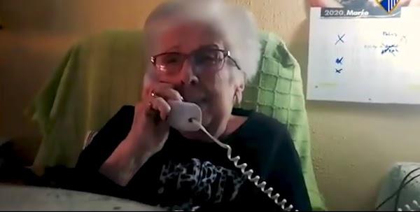 Málaga, Cifu habla con Francisca en la llamada del nieto malaguista
