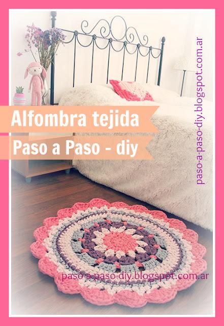 cómo hacer una alfombra tejida paso a paso