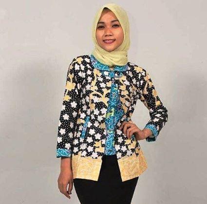 Desain baju batik atasan