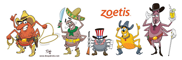 Personnages lone star tique zoetis