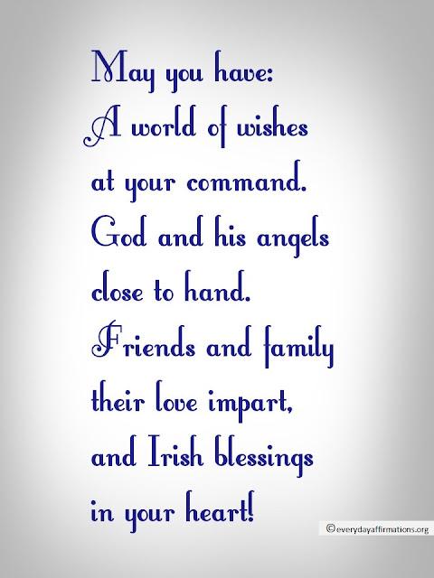 10 Irish Blessings Everyday Affirmations