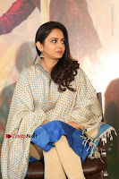 Actress Rakul Preet Singh Stills in Blue Salwar Kameez at Rarandi Veduka Chudam Press Meet  0045.JPG