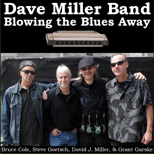 Dave Miller Band CD promo Blowing the Blues Away