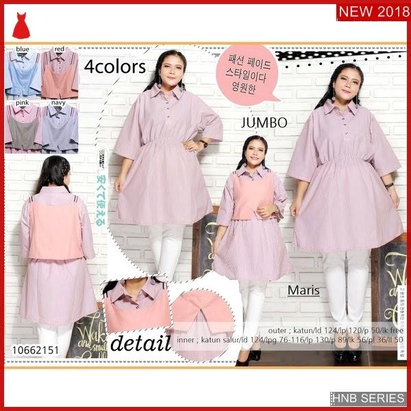 HNB047 Model Nava Dress Brokat Terusan Ukuran Besar BMG Shop